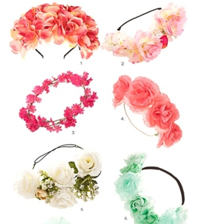 florals, hairpieces, trends
