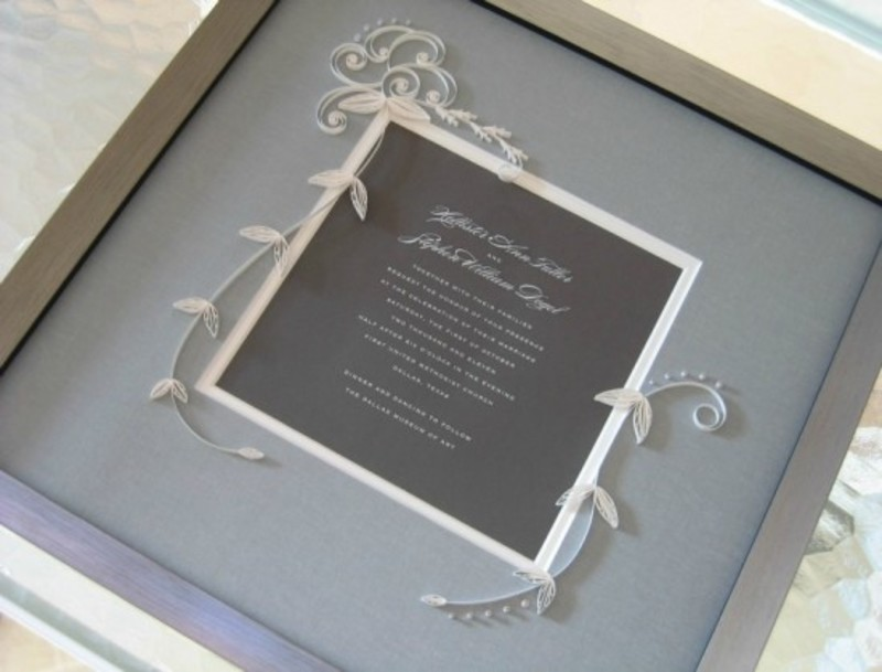 Framed wedding Invitation  - Personalized gifts to last for a lifetime