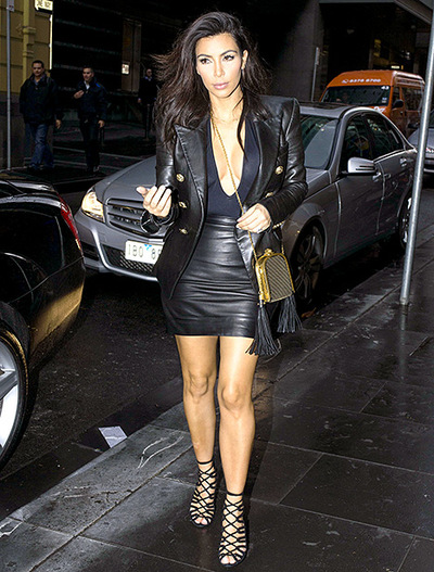 Kim Kardashian, Black dress, Balenciaga, style, fashion