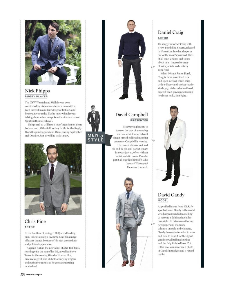 Men's Style's Annual Men of Style List 2015