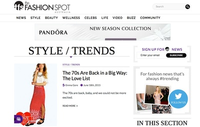 The Fashion Spot Launched In Australia Stylish One
