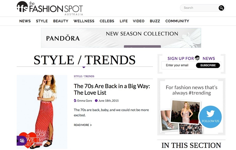 The Fashion Spot launched in Australia