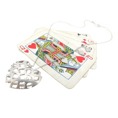 sian bostwick, playing cards, heart pendent, wonderland collection, alice's adventures in wonderland, lewis carroll